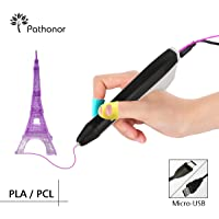 3D Printing Pen Pathonor Intelligent 3D Pen,Compatible with PLA/ABS for Crafting,Perfect Gift for Kids, Adults