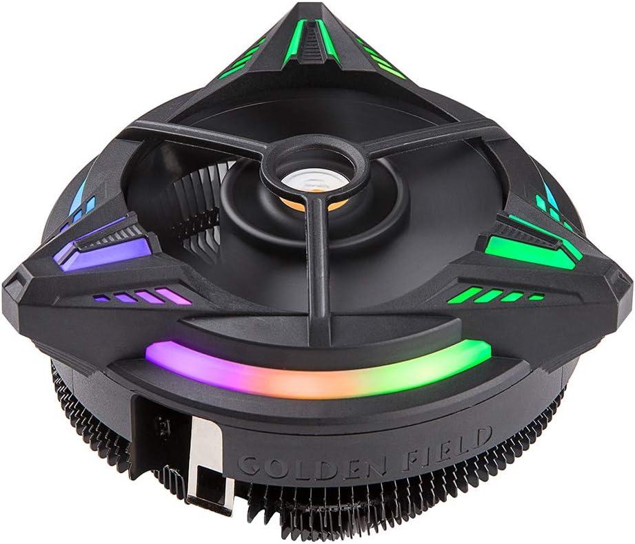 Flowing RGB Lighting CPU Air Cooling Fan Radiator for Intel /& AMD All Series GOLDEN FIELD TRICERATOPS Heatsink /& CPU Cooler