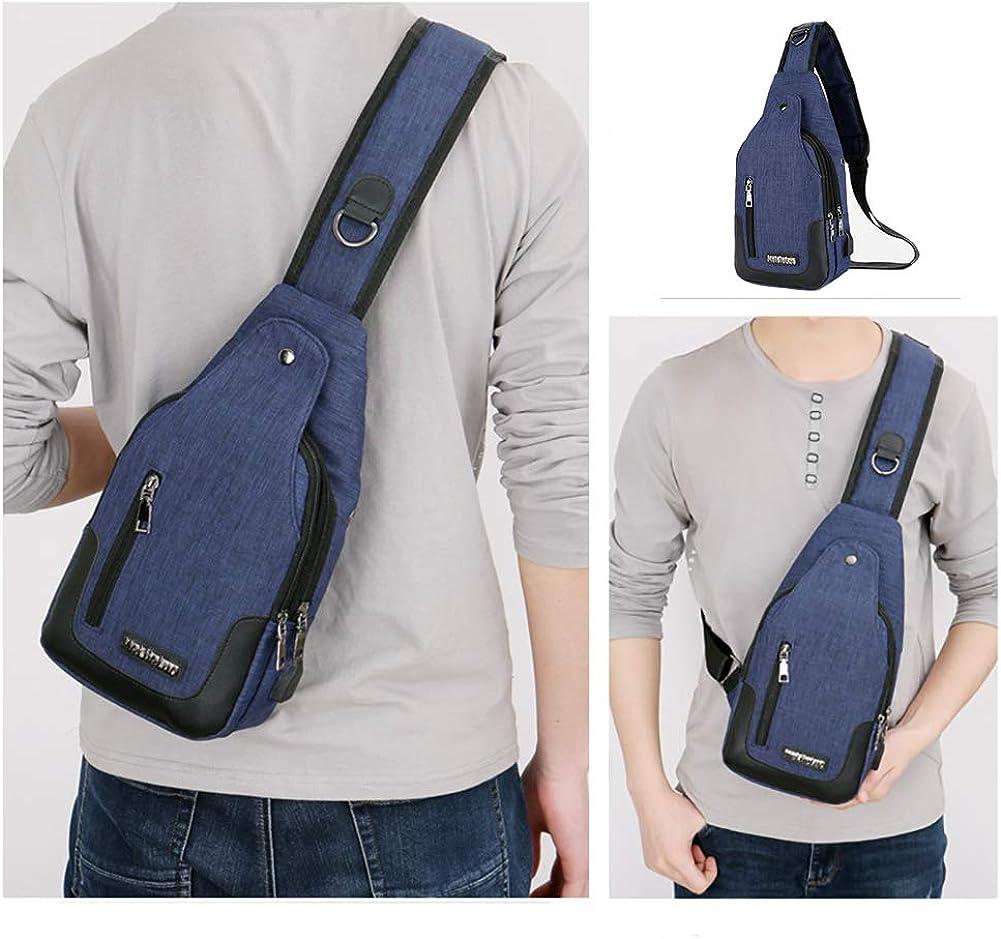 Peicees Travel Gym Bike Sling Bag Shoulder Backpack Daypack w//USB Charging Port