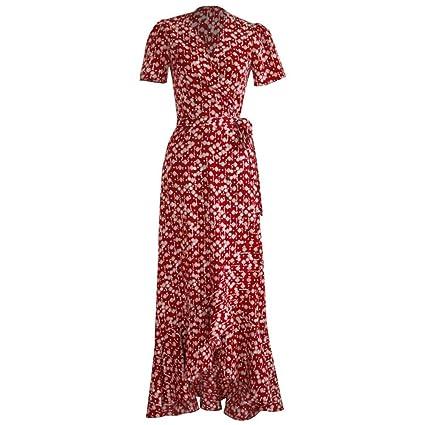 e1679b9c1 Vestido De Damas Falda Retro Primavera Y Verano Impresión Mujeres ...