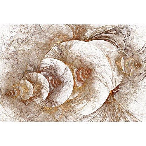 Pitaara Box Fractal Bulk Gold Pattern Unframed Canvas Painti