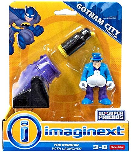 Batman Penguin (Fisher-Price Imaginext DC The Penguin Action Figure with Launcher)