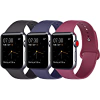 ATUP Strap Compatible with for Apple Watch Strap 38mm 42mm 40mm 44mm, Soft Silicone Replacement Straps Compatible with for iWatch Series 4, Series 3, Series 2, Series 1