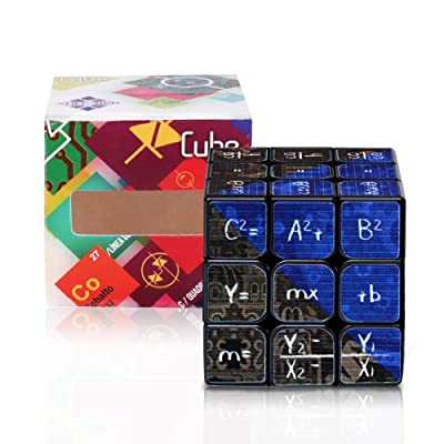 3x3 Speed Cube Stickerless Math Puzzle Cube 3D Magic Cube Game Brain Teaser Puzzles Toys Green (dark blue): Toys & Games