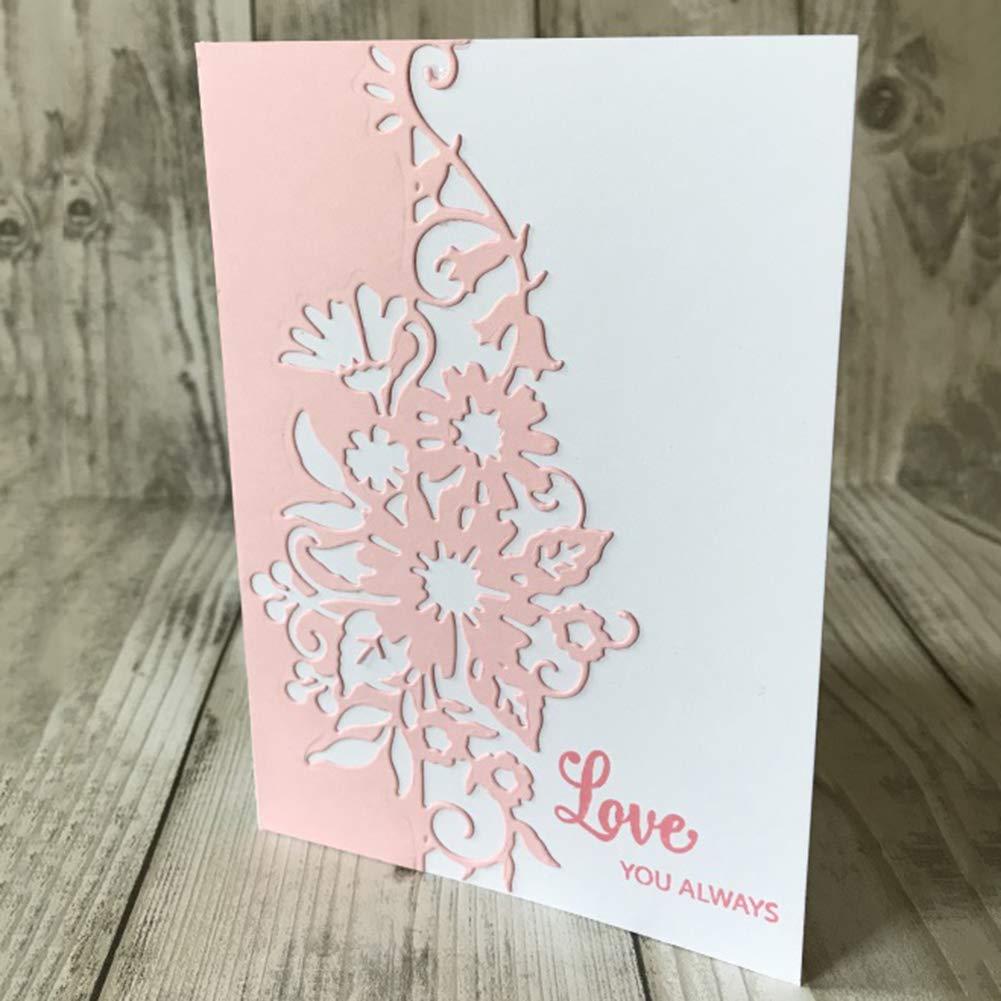 SpirWoRchlan Cutting Dies Flower Border Edge Metal Cutting Dies DIY Scrapbooking Album Paper Cards Stencil Craft Decor Tool Gift