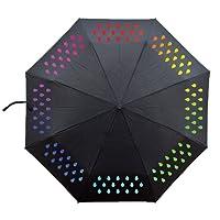 Ai-life à couleur changeante Parapluie, Pliable De Couleur Magique Parapluie, Parapluie De Voyage, Cadeau Idéal, Coupe-Vent En Fibre De Verre Avec 8 Baleines, Pluie et Sun Parasol