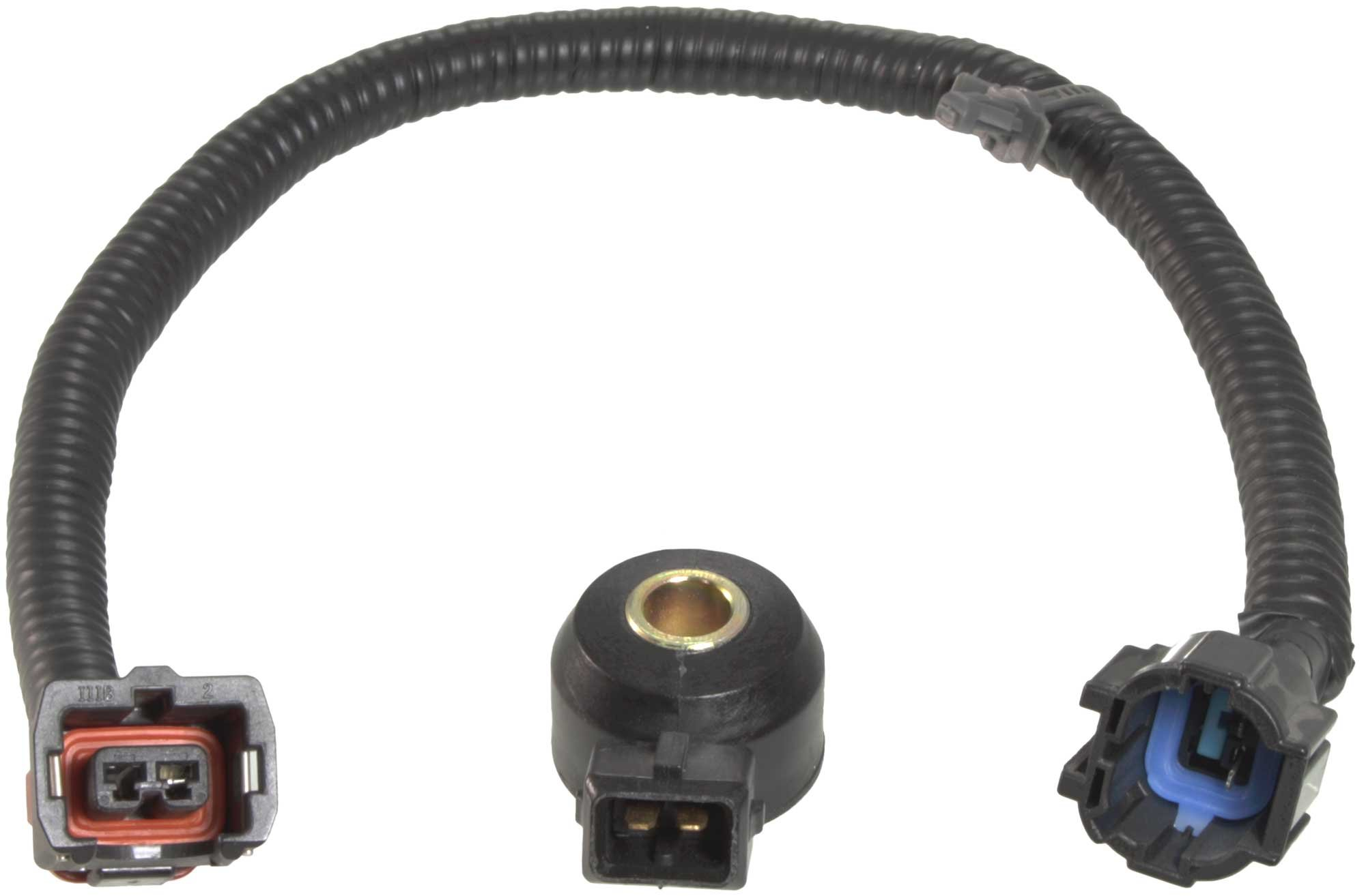 APDTY 028252 Knock Sensor With New Wiring Harness Pigtail Connector Fits Select 1990-2002 Nissan or Infiniti Mode ls Listed In The Compatibility Chart (Replaces 2407931U01, 2206030P00)