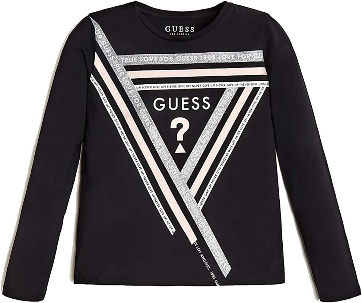 GUESS KIDS T-Shirt LS T-Shirt Girl Black J0YI26//K6YW0 10a