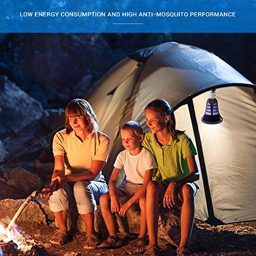 AUKUK 2018 Upgraded Bug Zapper Lantern - 2 IN 1 Mosquito Killer Lamp & Night LED Light - USB and Solar Charging - Lightweight,No noiseand Portable for Indoor&Outdoor, Home&Camping by AUKUK (Image #6)
