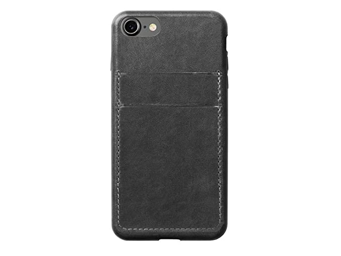 huge selection of 627fb 41182 Nomad iPhone 7 Plus Horween Leather Credit Card Case - Slate Gray -  Develops Patina Over Time - Holds 2 cards