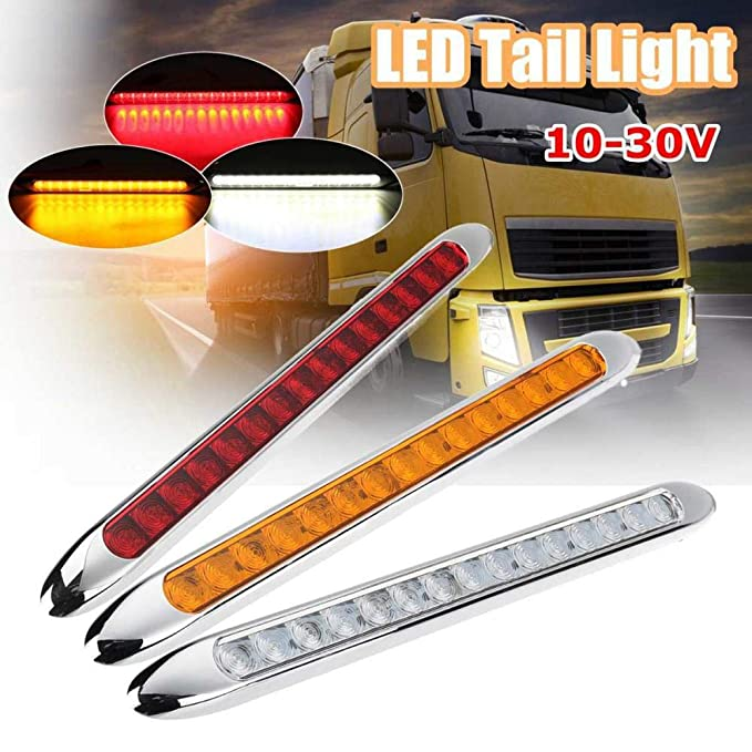 LED Stop Tail Light Ultra-Slim Car Truck Reverse Blinker Lamp 10-30V Dust-proof