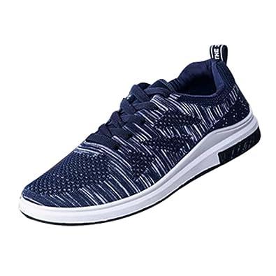 GongzhuMM Sneakers Basse Homme à Lacets Baskets Mocassins Chaussures de  Sport Chaussures de Course Chaussures de Marche Noir Bleu 38-43 EU   Amazon.fr  ... 0a3d63cae458