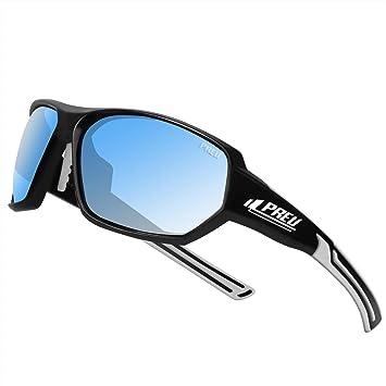 Amazon.com: Gafas de sol deportivas polarizadas PREU para ...