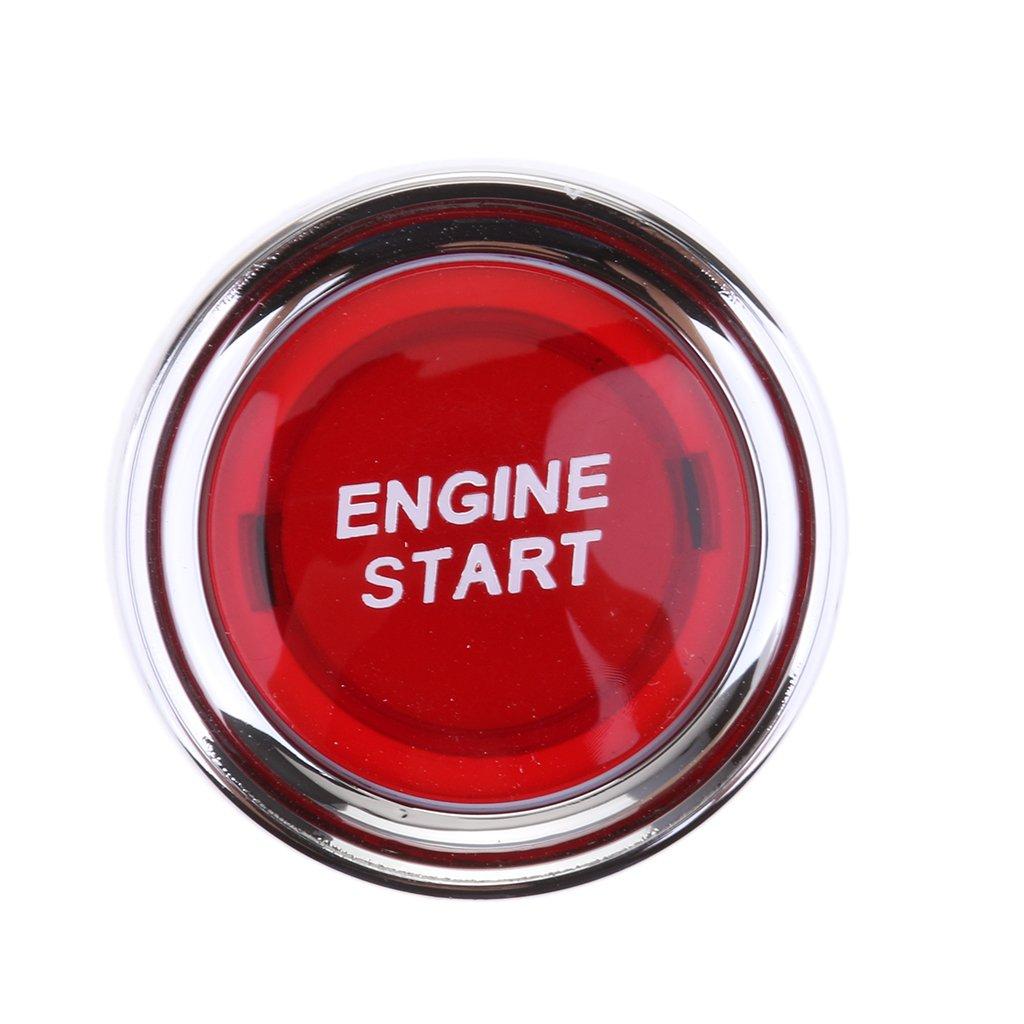 Gazechimp Auto Motor Start Druckknopf Schalter Rot LED Beleuchtung Z/ündung Starter