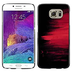 Exotic-Star ( chernyy fon kraska polosy pyatno ) Fundas Cover Cubre Hard Case Cover para Samsung Galaxy S6 / SM-G920 / SM-G920A / SM-G920T / SM-G920F / SM-G920I