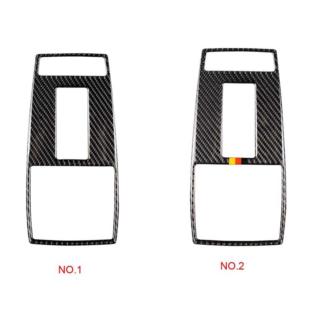 fgyhty Carbon Fiber Reading Dome Light Panel Cover Trim Replacement For Mercedes Benz C Class W204 2007-2013