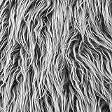 Shannon Fabrics Grey Frost Faux Fur Mongolian Yard Shannon Fabrics