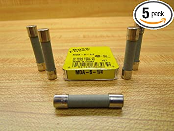 Bussmann MDL-2//10 2//10 Amp Time-Delay Glass Tube Fuse 250 V Ul Listed 5-In Tin 5 Pack