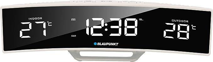 Blaupunkt CR12WH Radiodespertador con Pantalla LED, Temperatura ...