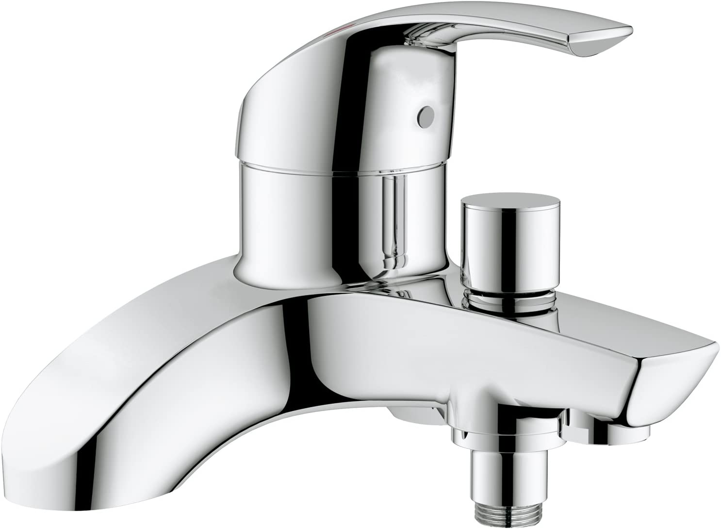 GROHE Eurosmart single-lever bath tap, bath and shower mixer, wall mounted, easy to clean, easy installation, chrome, 25105000