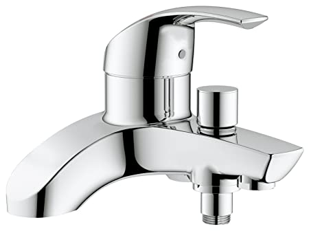 GROHE Eurosmart single-lever bath tap, bath and shower mixer, wall ...