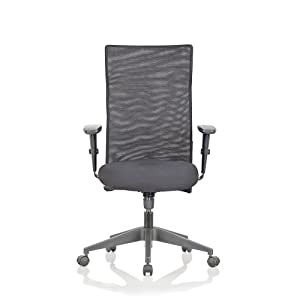 Featherlite Contact Project High Back Desk Arm Chair (Black)
