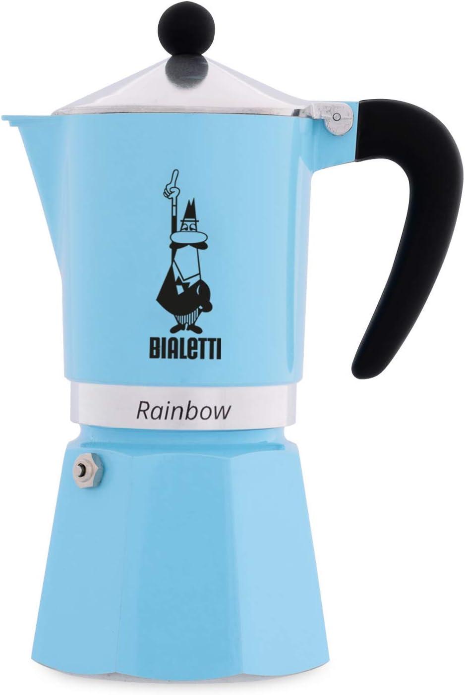 Bialetti Rainbow Cafetera Italiana Espresso,6 Tazas, Aluminio, Azul: Amazon.es: Hogar