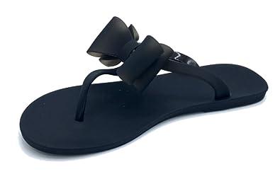 7d4fa0c5374456 Vesto Girls Matte Jelly Sandal With Bow 11-12 M US Little Kid Black