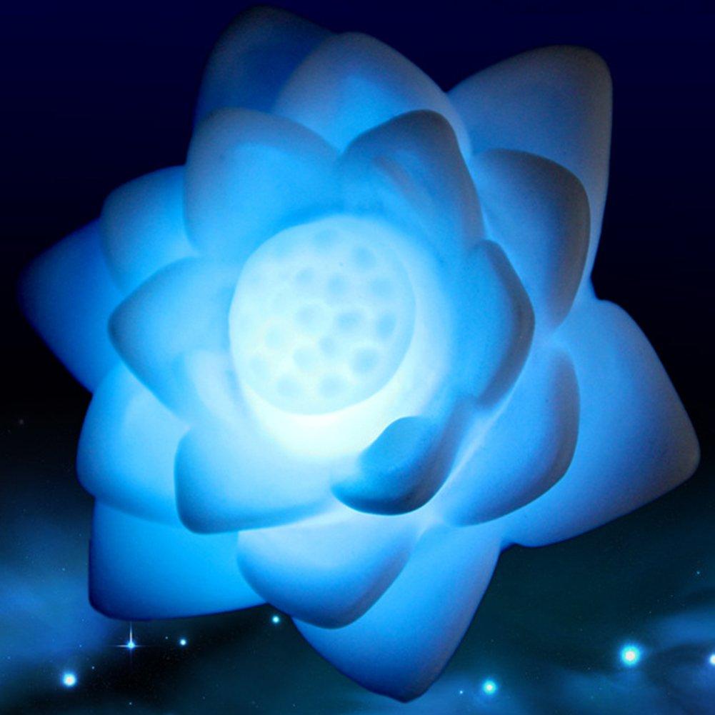 LEDナイトライト、denpetec安全ワイヤレスバッテリLED常夜灯ランプウォームホワイト7カラフル赤ちゃん大人のベッドルーム、子供夜ライト B07CG8KXR9