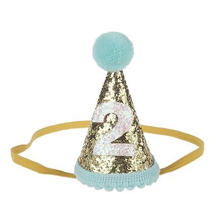 Petsidea Glitter Dog First Birthday Cone Hat Mini Doggy Cat Kitty Party Hats Mint