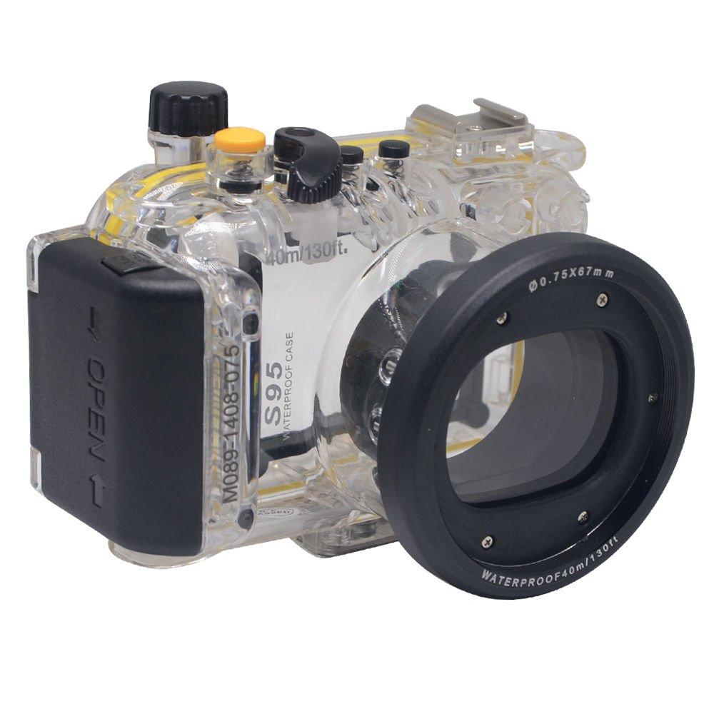Market&YCY 40m/130フィート 防水 ハウジング ダイビング ハード保護ケース Canon S95用   B07KLR5PF9