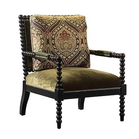 Amazon.com: LAZ Silla de oficina de madera maciza para salón ...