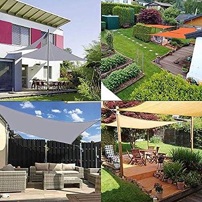 Sun Shade Sail 4m x 6m Rectángulo, Toldo Resistente al Agua 95% Bloque UV Protector Solar Toldo para Patio al Aire Libre Jardín Césped Pérgola Terraza Cubierta-Naranja: Amazon.es: Jardín