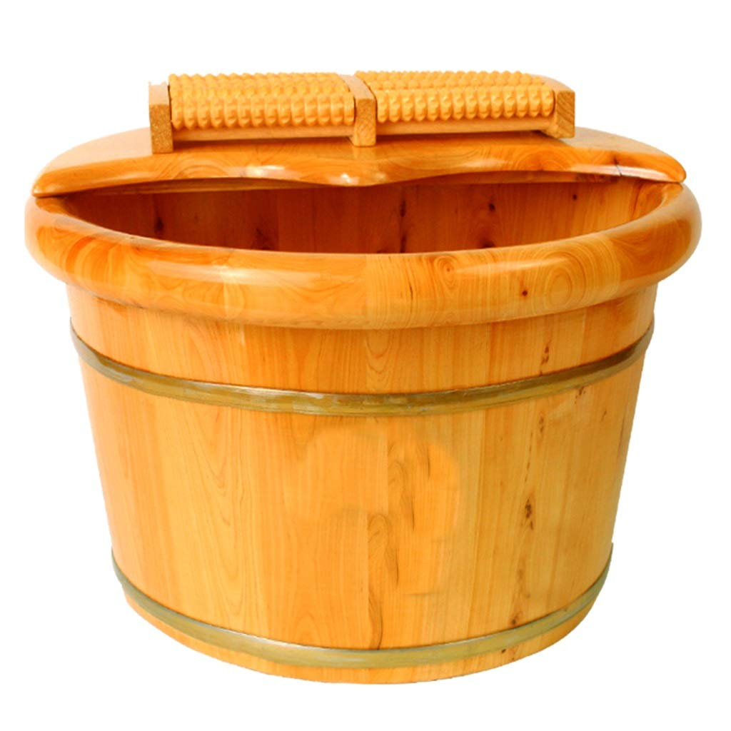 Tub,Foot Bath Tub,Cedar Wood Thicken Environmental Protection Foot Bath Barrel,Household Insulation Wooden Barrel,Steamed Foot Artifact (Size : B)