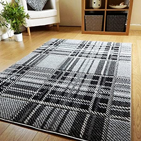 Grey Silver Purple Rug Mat Carpet Living Room Bedroom Kitchen Room Hall Runner