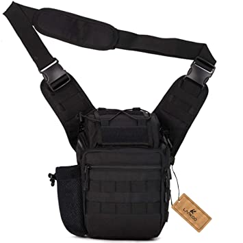 9ae735514a0d LarKoo Tactical Messenger Bag EDC Sling Pack Outdoor Multi-functional  Camera Fishing Tackle Bag Utility