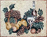 Mozaico - Fruits and Wine Mosaic Kitchen Backsplash Marble and Natural Stones Artwork Design MK001