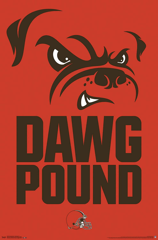 Trends International Cleveland Browns-Dog Pound Mount Bundle Wall Poster 22.375 x 34 Multi