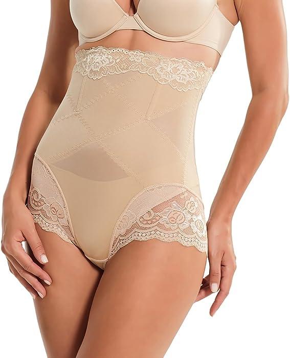 73e946c7e7704 AICONL Invisable Lace Body Shaper High Waist Tummy Control Panty Steel Bone Slim  Butt Lifter (