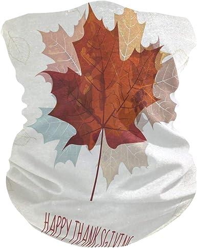 Autumn Leaves Best Half Face Mask Scarf Cover Dust Wind Neck Gaiter Bandana Women Men