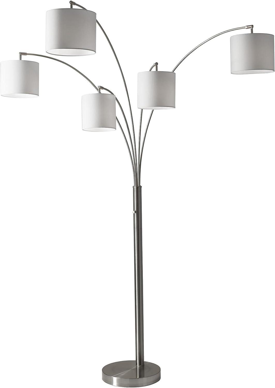 Adesso 4239-22 5 Arc Lamp-Steel 2 Box 5 2, 5-Arm, Trinity