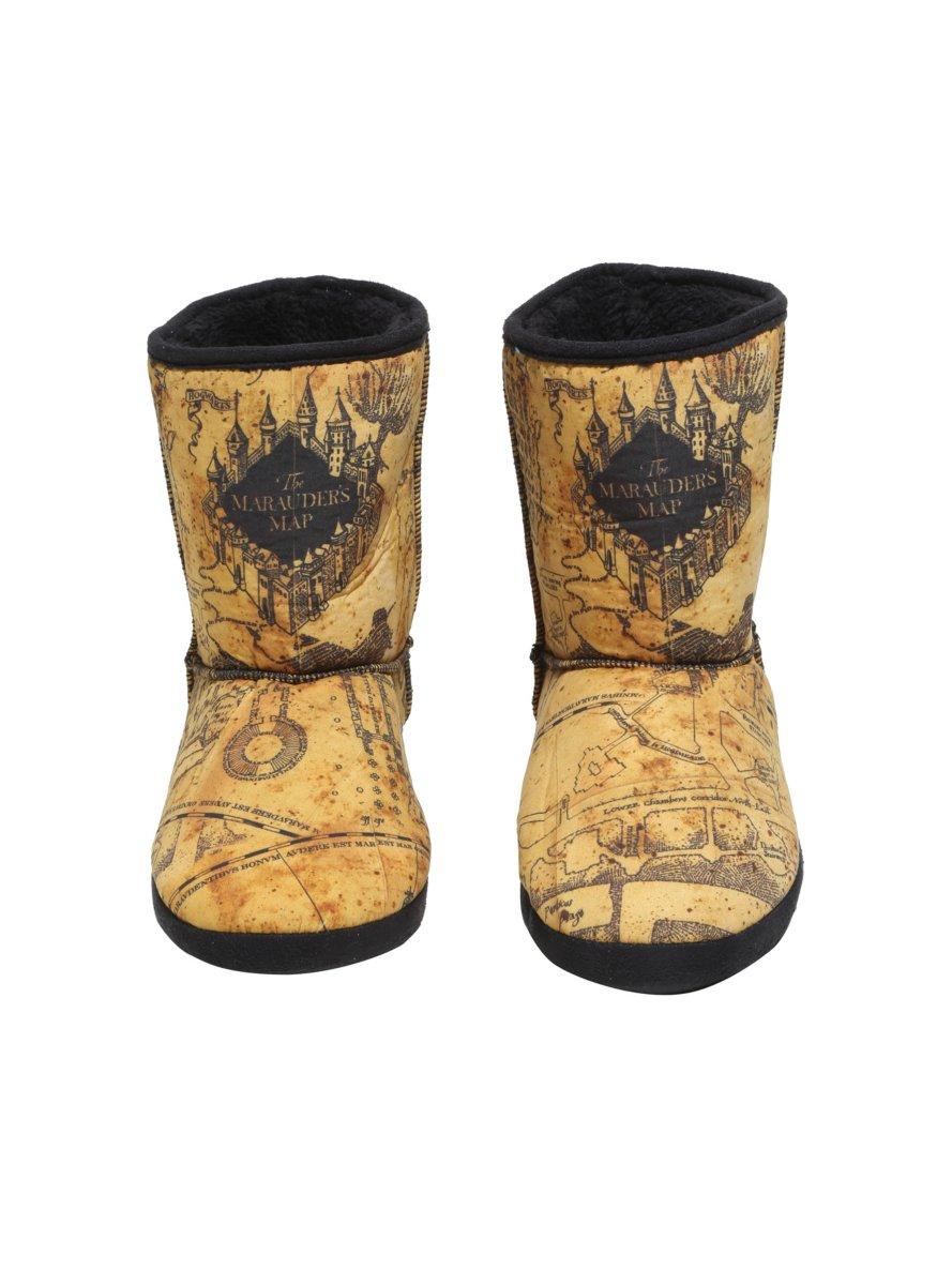 Harry Potter Marauder's Map Slipper Boots