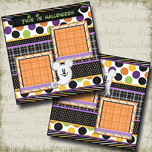 GHOST MOUSE - Premade Scrapbook Pages - EZ Layout 2363 (Layouts Halloween Scrapbook)