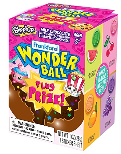 Shopkins Milk Chocolate Wonderball with Candy and Surprise Charm Bracelet, 1 oz (1) -