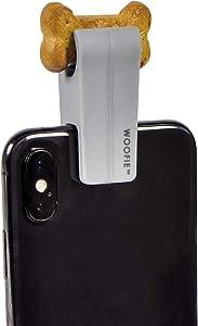 Fred & Friends Howligans Woofie - Pet Selfie Cell Phone Tool, Grey