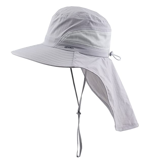 07a6a057 Image Unavailable. Image not available for. Color: Child Sun Protection Cap  Wide Brim Hat with Neck Flap UPF 50+ ...