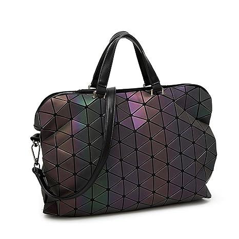 88446f1eb53d Geometry Folding Women Handbags Tote Ladies Shoulder Messenger Bag Big