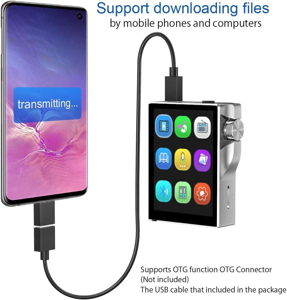 Gueray 16GB HiFi Bluetooth Reproductor de MP3 Alta resolución Sin ...