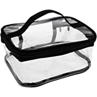 MagiDeal PVC Travel Clear Cosmetic Makeup Storage Toiletry Wash Bag Pouch Zipper Bag