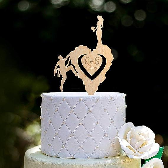 Decoración para tarta de escalada en roca, para boda ...